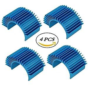 ShareGoo Aluminum 540 550 Motor Heat Sink Heatsink Cooling for Tamiya HSP Car -Blue (Pack of 4)