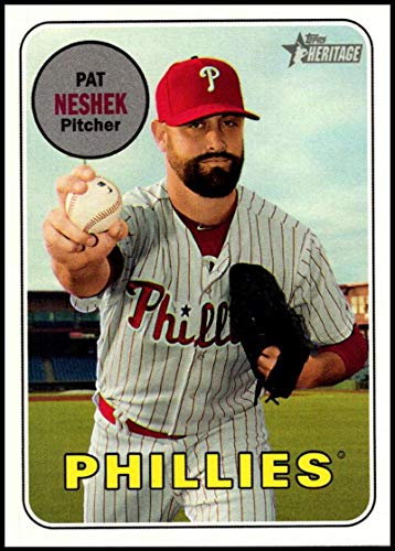 2018 Topps Heritage High Number Baseball #633 Pat Neshek Philadelphia Phillies Official MLB Trading Card ()