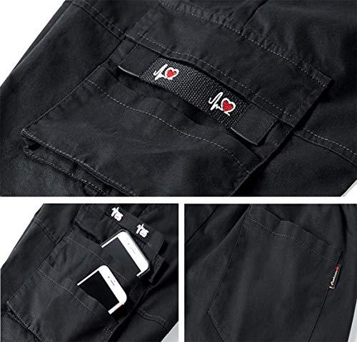 TieNew Homme Militaire Cargo Short de Loisir Travail Casual Imprimé Camouflage Bermuda Pantalon Court Multi Poches… 5