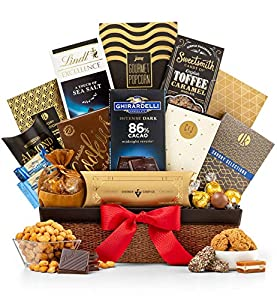GiftTree Gourmet Chocolate & Snack Food Gift Basket | Assortments of Popcorn, Almond Roca, Biscotti, and Cookies | Perfect Present for Birthdays, Thank You, Business and Holidays