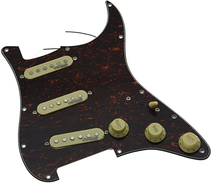 1PC Red Tortoise 4Ply MINI Humbucker Pickguard with Screws for Tele Style Guitar