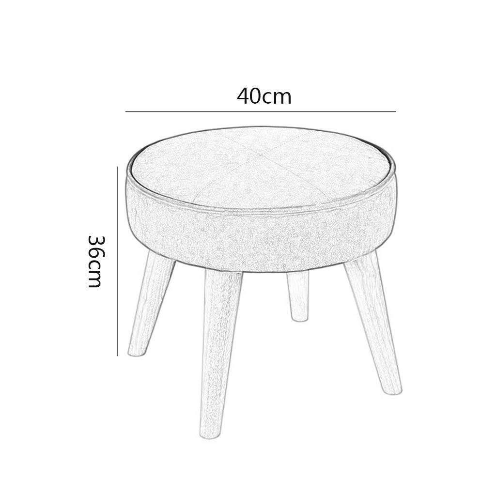 Amazon.com: YXNZ Round Footrest Wooden Support Upholstered ...