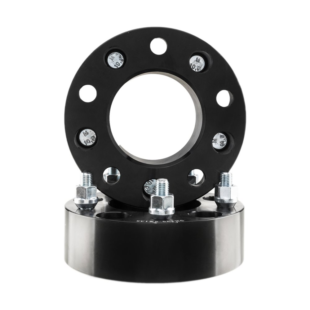 TRIBLE SIX 4X Black Wheel Spacers 5x135 2 50mm Thick Adapters 12x1.5 Studs 87.1mm CB for Ford Expedition F-150 Lincoln Blackwood Navigator