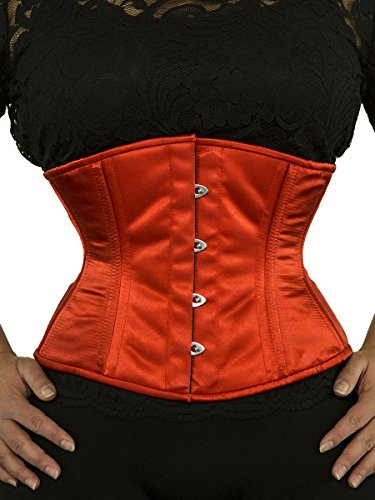 Orchard Corset CS-411 Red Satin Corset - Size 22