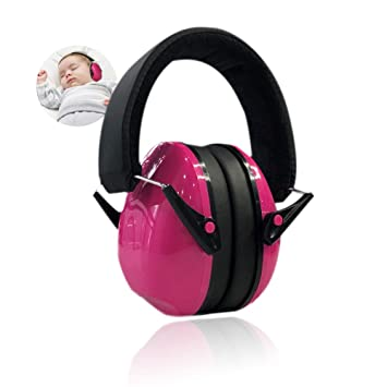 BLACK EAR MUFFS BABIES BABY KIDS ADULTS SUIT ALL AGES HEARING PROTECTION