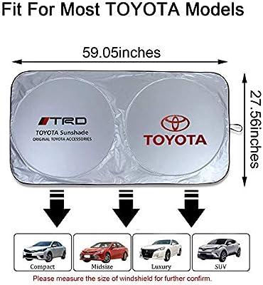 N//B Toyota Car Windshield Sun Shade Front Window Windshield Blocks UV Rays Sun Visor Protector Sunshade Car Window Film for Toyota RAV4 REIZ C-HR Yaris 4Runner Levin VIOS EX IZOA Avalon