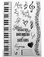 luosh Clear Stamps Music Dreams DIY silikonowe karty pieczątki przyczepiane pieczęć scrapbooking album do wytłaczania dekoracja