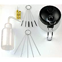 Raih 5 Sets Airbrush Spray Gun Wash Cleaning Tools Needle Nozzle Brush Glass Cleaning Pot Holder