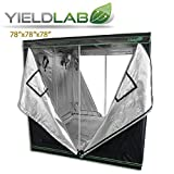 Yield Lab 78'' x 78'' x 78'' Grow Tent with Viewing Window – For Indoor, LED, T5, CFL, HPS, CMH – Hydroponic, Aeroponic, Horticulture Growing Equipment