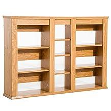 HOMCOM Triple Wall Mounted Media Storage Floating CD DVD Shelves Rack Hanging Organizer Unit (Wood)