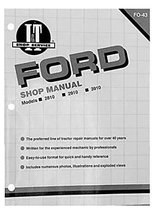 shop manual ford 2810 2910 3910 tractor amazon com Ford 2910 Specifications Ford 2910 Parts Illustration