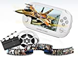CZT New Style 8GB Handheld Game Console 4.3 Inch Portable Video Game Console Support Games for gba gbc gb sega sfc fc Support video music camera (White)
