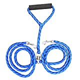 YESIDO Durable Double Dog Leash No Tangle Soft Handle for Two Dogs, Pet Traction Rope for Two Small/Medium Dogs