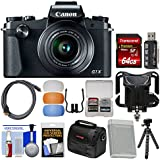 Canon PowerShot G1 X Mark III Wi-Fi Digital Camera with 64GB Card + Case + Battery + Flex Tripod + Diffusers + Kit