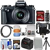 Canon PowerShot G1 X Mark III Wi-Fi Digital Camera 64GB Card + Case + Battery + Flex Tripod + Diffusers + Kit