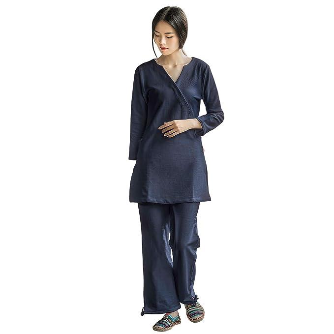 Amazon.com: KSUA Zen - Conjunto de ropa de meditación para ...