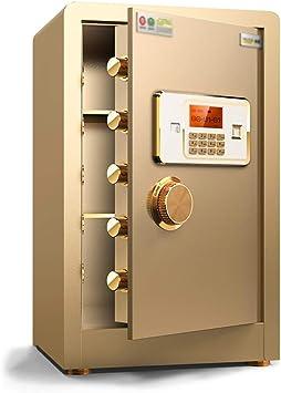 Cajas fuertes 60 cm contraseña hogar caja de seguridad de contraseña segura pequeña caja fuerte de alarma oficina inteligente mueble antirrobo (Color : Gold, Size ...