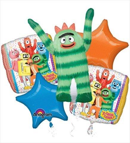 Yo Gabba Gabba Foil Balloon Bouquet 1 Supershape 2 Solids 2 Coordinating 18'