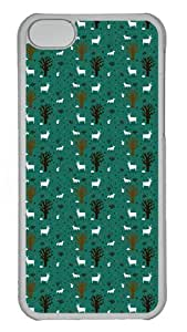iPhone 5C Case and Cover - Tree Pattern background Custom Polycarbonate Hard Case Cover for iPhone 5C - Transparent