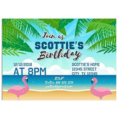 Flamingos Laguna Birthday Party Invitations