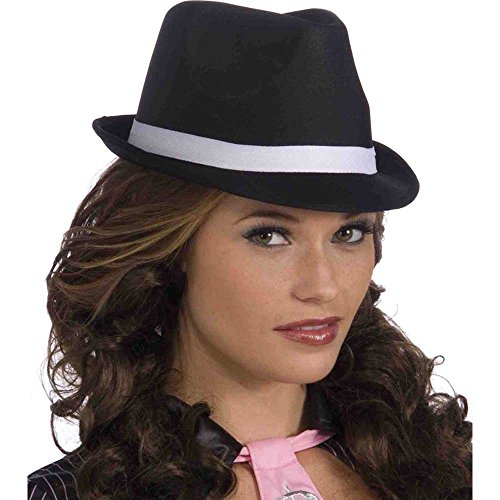 Ladies Adult Costume Black Fedora