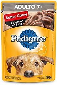 Ração Úmida Para Cachorros Pedigree Sachê Carne ao Molho Adultos Sênior 7+ Anos 100g
