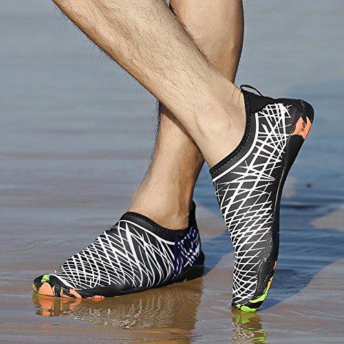 Erwachsene Herren Barfußschuhe URSING Damen Aquaschuhe Wasser Sommer Schwimmschuhe Sportschuhe Badeschuhe Yoga Wasserschuhe Surfschuhe Barfuß für Strandschuhe Weiß Outdoor Wasserdicht Schuhe UdFqd