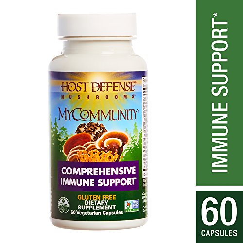 Host Defense - MyCommunity Multi Mushroom Capsules, Comprehensive Support for a Robust and Resilient Immune System with Lion's Mane, Turkey Tails, and Reishi, Non-GMO, Vegan, Organic, 60 Count -