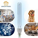 BRIGHTINWD LED 220V 15W UV Ozone Sterilization Lamp E27 Base Anti-Bacterial Rate 99% Ultraviolet Disinfection Germicidal Lights Without Lamp Bas