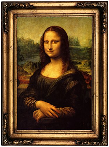 Historic Art Gallery Mona Lisa by Leonardo da Vinci Framed Canvas Print 12