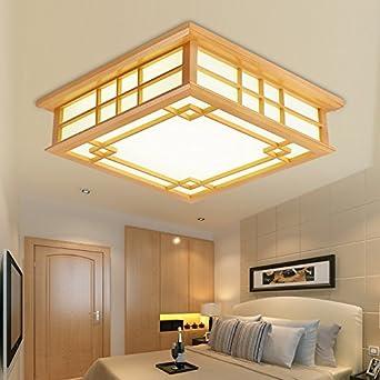 GQLB Holz Farbe Japanische light 16 W tatami Decke 35 * 35 * 12 cm ...