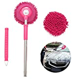 Meiwash Car Wash Mop,Microfiber Chenille Flexible Wash Mop for Car,Truck,RV,SUV and Home Car(Rose car mop)
