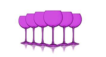 Vasos De Globos 20 Oz Juego De 6 Mas Colores Disponibles Rosa