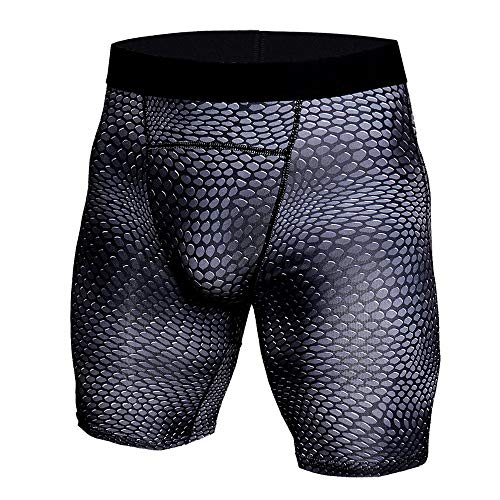 New Mens Compression Shorts Summer Sports Training Bodybuilding Workout Fitness Tights Pants Trousers Daorokanduhp (S, Black) (Short Training Relaxed)