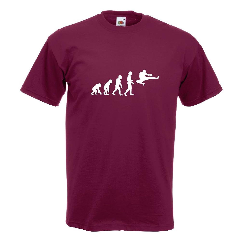 KIWISTAR - Evolution Kampfsport Fight T-Shirt in 15 verschiedenen Farben - Herren  Funshirt bedruckt Design Sprüche Spruch Motive Oberteil Baumwolle Print ...
