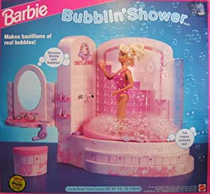 barbie bathroom games bubblin shower bath playset quot sprays 10078