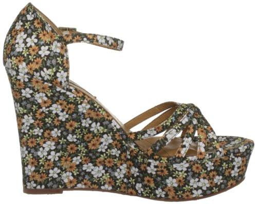 Pepe Jeans London COR-251 A COR-251 A - Sandalias de vestir de tela para mujer Beige (Daisy Flowers)