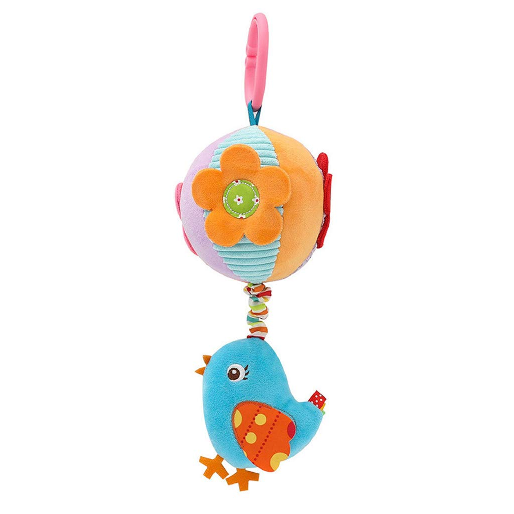 Infant Baby Activity Spiral Bed /& Stroller Toy Lovely Bird Educational Plush Toy