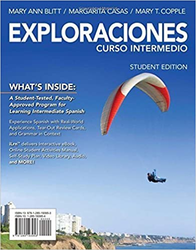 Exploraciones Curso Intermedio (with iLrn Printed Access Card) (World Languages) by Mary Ann Blitt (2013-11-12)