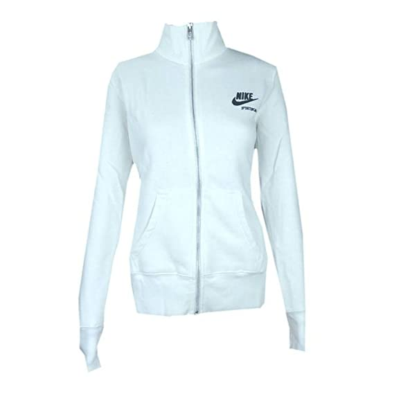 Nike - Sudadera - Manga Larga - para Mujer Blanco Blanco Large: Amazon.es: Ropa y accesorios