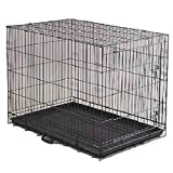 DOG CRATE 24x17x20″ Medium Pet Kennel Cage Folding Portable Travel Metal Review