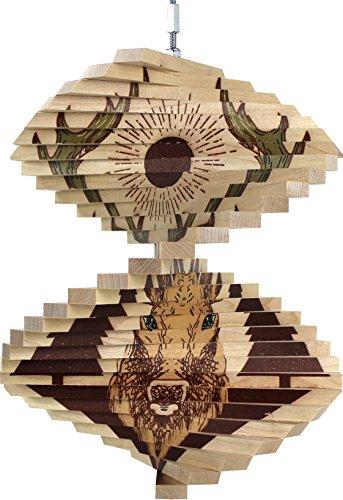 - Deer Wood Wind Spinner - Made in USA