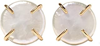 product image for Melissa Joy Manning 14k Gold American Pearl Stud Earrings