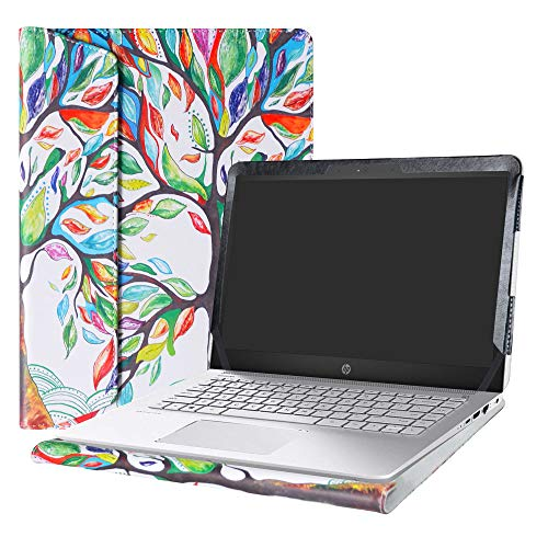 Alapmk Protective Case Cover for 14'' HP Pavilion 14 14-bkXXX (14-bk000 to 14-bk999,Such as 14-bk061st 14-bk063st) Series Laptop[Warning:Not fit Pavilion 14 14-bXXX 14-abXXX 14-bfXXX],Love Tree by Alapmk (Image #10)