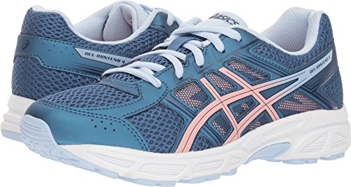 ASICS - Unisex-Child Gel-Contend 4 Gs Shoes, Size: 6.5 M US Big Kid, Color: Azure/Frosted Rose (Childrens Running Shoes)