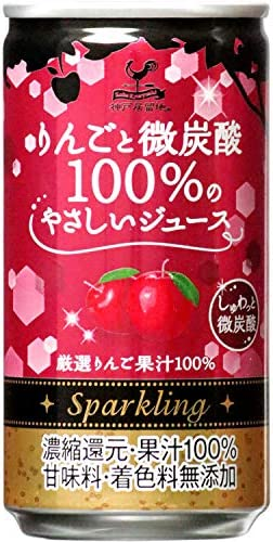[スポンサー プロダクト]神戸居留地 りんごと微炭酸100%のやさしいジュース 缶 185ml×20本