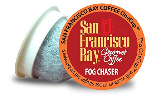 San Francisco Bay OneCup Fog Chaser (36 Count) Single Serve Coffee Compatible with Keurig K-cup Brewers Single Serve Coffee Pods, Compatible with Keurig, Cuisinart, Bunn, iCoffee single serve brewers