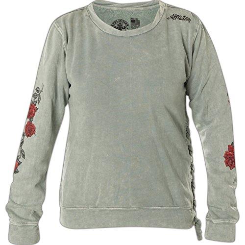 (Afflciton Burning Rose Fleece Sweater XL)