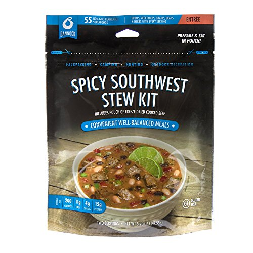 Spicy Southwest Beef Stew Kit - 1 Pouch - 2.5 Servings - Gluten Free Freeze Dried Camping, Hiking & Backpacking Meals - Cook in Pouch Camp Food