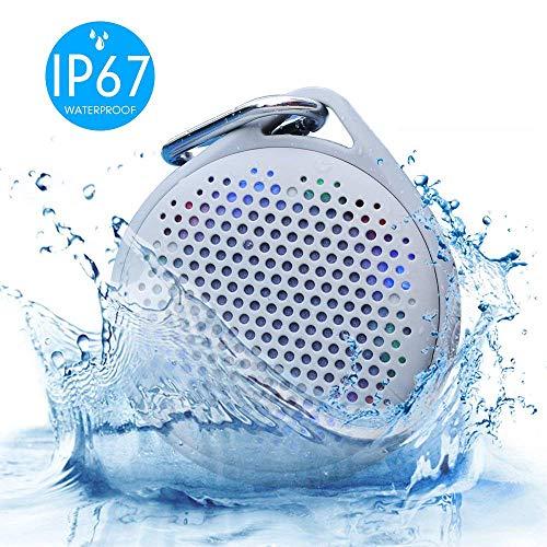 Shower Speaker - AVWOO IP67 Waterproof Bluetooth Speaker, Po